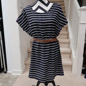 Striped Dress with Belt